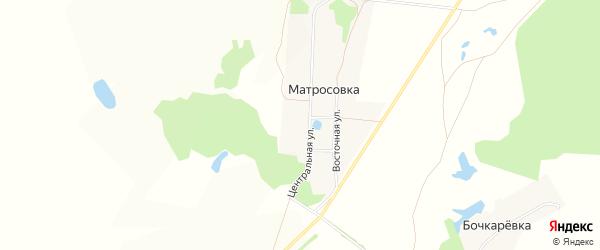 Карта деревни Матросовки в Башкортостане с улицами и номерами домов