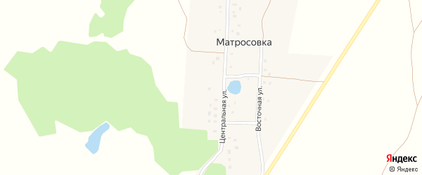 Восточная улица на карте деревни Матросовки с номерами домов