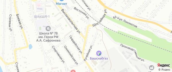 Шоссейная улица на карте Уфы с номерами домов