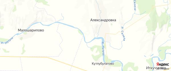Карта Шевченковского сельсовета республики Башкортостан с районами, улицами и номерами домов