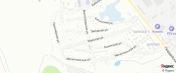 Волгоградская улица на карте Уфы с номерами домов