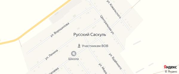 Улица Ковальского на карте деревни Русского Саскуля с номерами домов