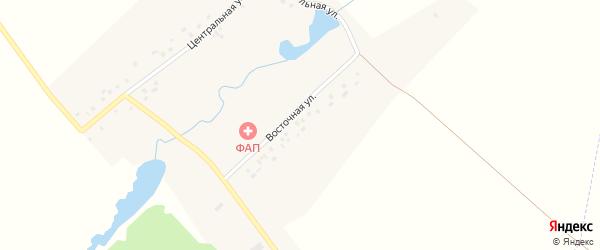 Восточная улица на карте деревни Малого Нагадак с номерами домов
