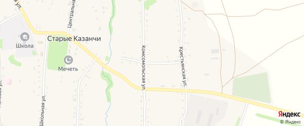 Набережная улица на карте села Старые Казанчи с номерами домов