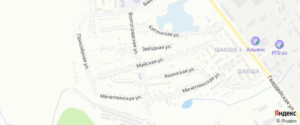 Майская улица на карте Уфы с номерами домов
