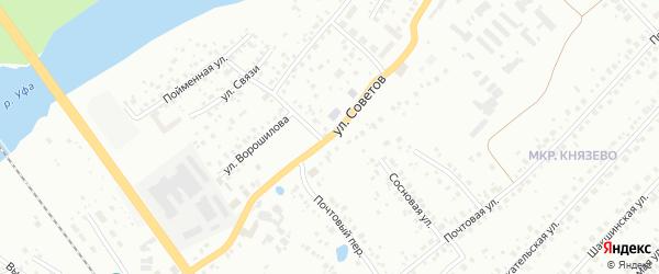 Улица Советов на карте Уфы с номерами домов