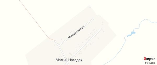 Молодежная улица на карте деревни Малого Нагадак с номерами домов