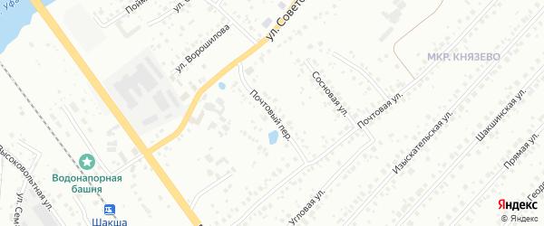 Почтовый переулок на карте Уфы с номерами домов