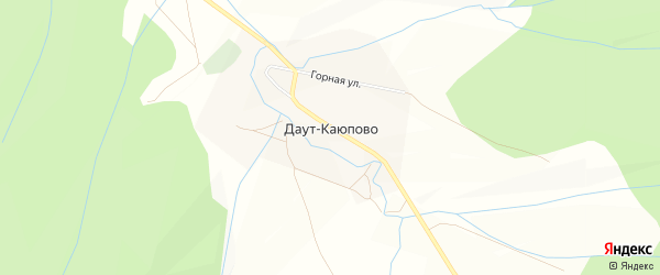 Карта деревни Даут-Каюпово в Башкортостане с улицами и номерами домов