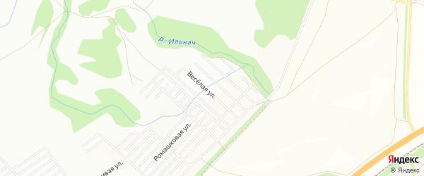 СНТ Родничок на карте Уфимского района с номерами домов