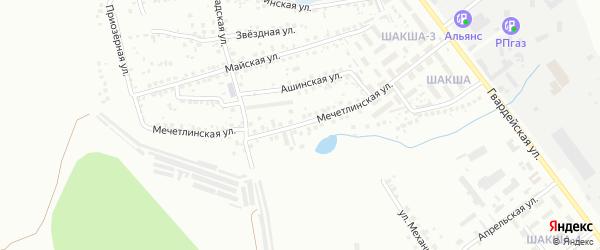 Мечетлинская улица на карте Уфы с номерами домов