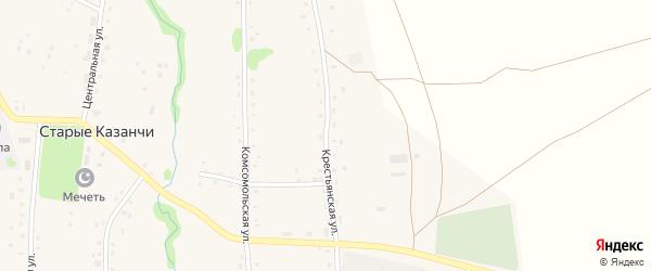 Крестьянская улица на карте села Старые Казанчи с номерами домов