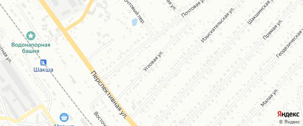 Угловая улица на карте Уфы с номерами домов
