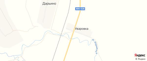 Карта деревни Уваровки в Башкортостане с улицами и номерами домов