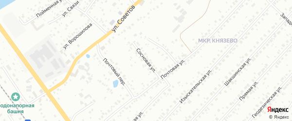Сосновая улица на карте деревни Князево с номерами домов