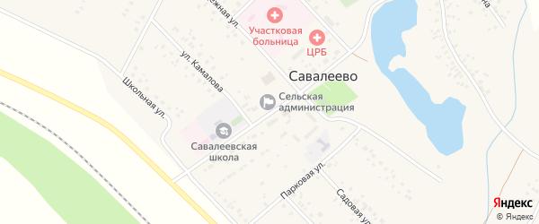 Улица Мира на карте деревни Савалеево с номерами домов