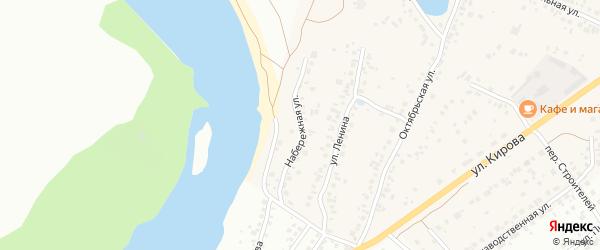 Набережная улица на карте деревни Князево с номерами домов