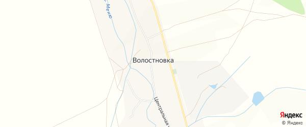 Карта села Волостновки в Башкортостане с улицами и номерами домов