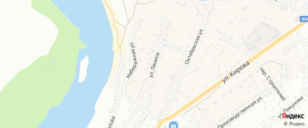 Улица Ленина на карте деревни Князево с номерами домов