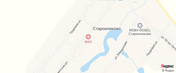 Прудовая улица на карте села Староиликово с номерами домов