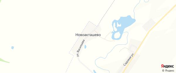 Карта деревни Новоакташево в Башкортостане с улицами и номерами домов
