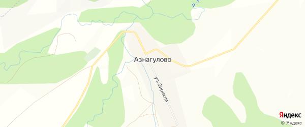 Карта деревни Азнагулово в Башкортостане с улицами и номерами домов