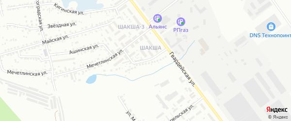 Татышлинская улица на карте Уфы с номерами домов