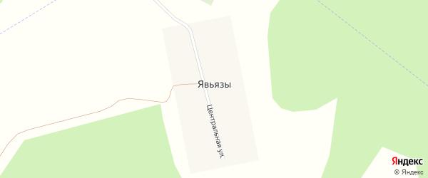 Центральная улица на карте деревни Явьязы с номерами домов