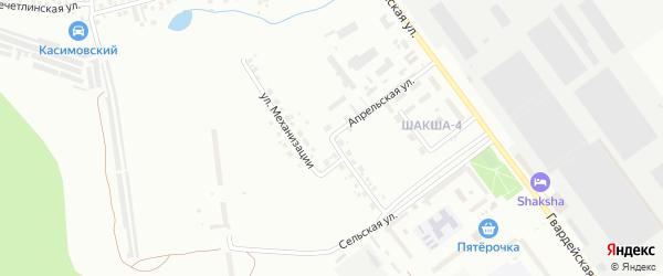 Улица Механизации на карте Уфы с номерами домов