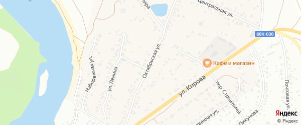 Октябрьская улица на карте деревни Князево с номерами домов