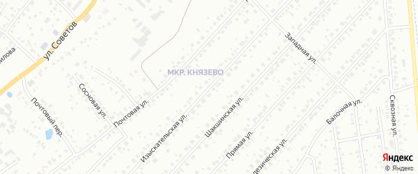 Изыскательская улица на карте Уфы с номерами домов