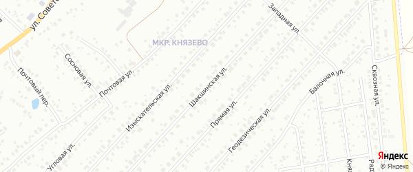 Шакшинская улица на карте Уфы с номерами домов