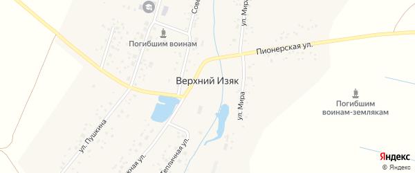 Советская улица на карте села Верхнего Изяка с номерами домов