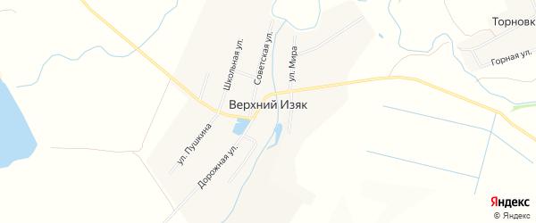 Карта села Верхнего Изяка в Башкортостане с улицами и номерами домов