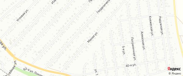 Малая улица на карте Уфы с номерами домов