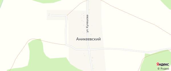 Улица Кулешова на карте деревни Аникеевского с номерами домов