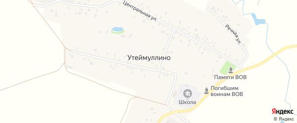 Улица Ф. Исангулова на карте деревни Утеймуллино с номерами домов