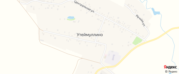 Улица М. Гафури на карте деревни Утеймуллино с номерами домов