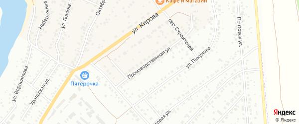 Производственная улица на карте деревни Князево с номерами домов