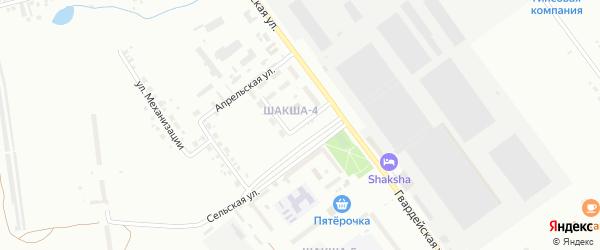 Коммунальная улица на карте Уфы с номерами домов