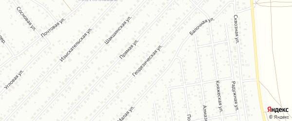 Геодезическая улица на карте Уфы с номерами домов