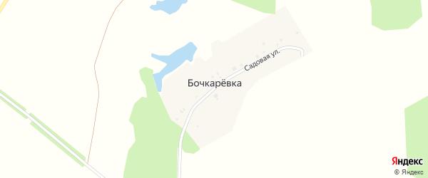 Садовая улица на карте деревни Бочкаревки с номерами домов