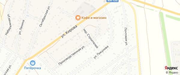Переулок Строителей на карте деревни Князево с номерами домов
