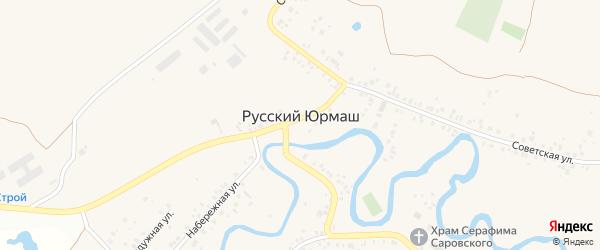 Янтарная улица на карте села Русского Юрмаша с номерами домов