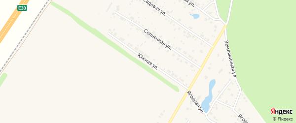 Южная улица на карте села Русского Юрмаша с номерами домов