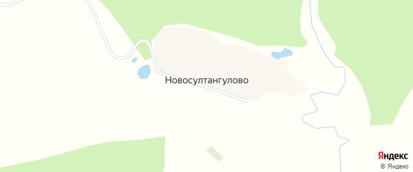 Курортная улица на карте деревни Новосултангулово с номерами домов