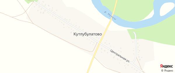 Центральная улица на карте деревни Кутлубулатово с номерами домов