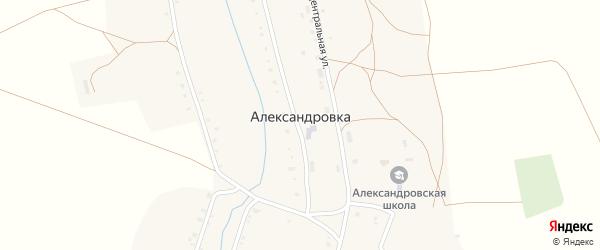 Воскресенская улица на карте села Александровки с номерами домов