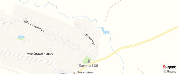 Речная улица на карте деревни Утеймуллино с номерами домов