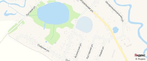 Озерная улица на карте села Русского Юрмаша с номерами домов